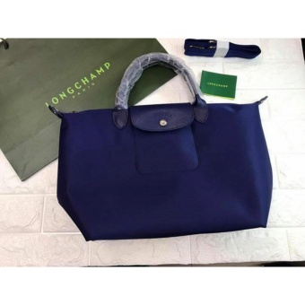 Longchamp Large Nylon Tote Bag From Italy NAVY BLUE
