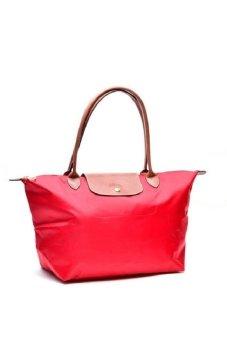 Longchamp Le Pliage Large Long Handle Tote Bag Garance Red