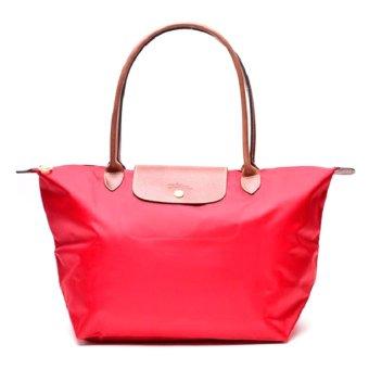 Longchamp Le Pliage Large Long Handle Tote Bag Garance Red - picture 2