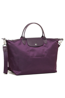 Longchamp Le Pliage Neo Medium Short Handle (Bilberry)