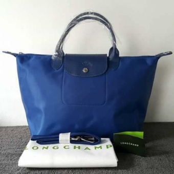 Longchamp Medium Nylon Tote Bag From Italy NAVY BLUE