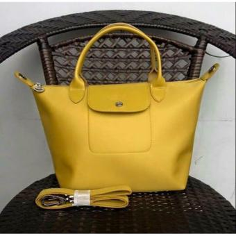 Longchamp Medium Nylon Tote Bag From Italy YELLOW