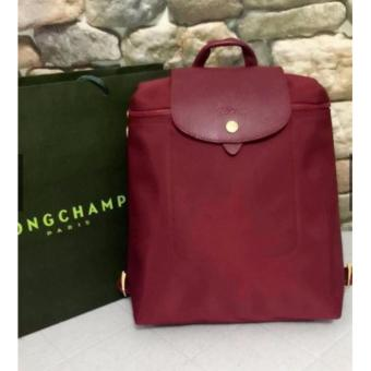 Longchamp Neo Backpack in Maroon