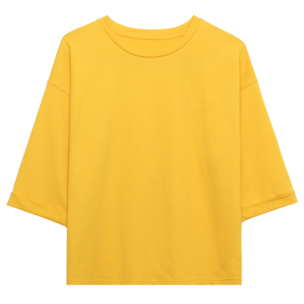 LOOESN Korean-style solid color female New style T-shirt (Jiang Huang)