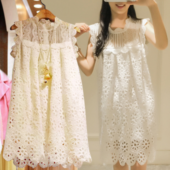 LOOESN New style lace women skirt sleeveless dress