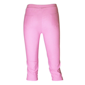 Lookssy Unisex Style Plain Type Jeggings Pedal (baby pink) - 3
