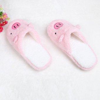 Lovely Pig Home Floor Soft Stripe Slippers Female Shoes - intl - 4