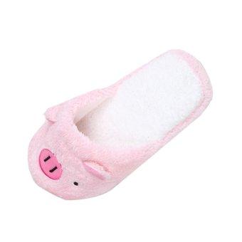 Lovely Pig Home Floor Soft Stripe Slippers Female Shoes - intl - 2