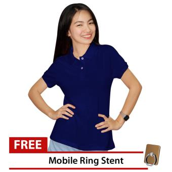 Lucky Hanna Ladies Cotton Semi-fit Polo Shirt (Navy Blue) Price Philippines