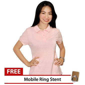 Lucky Hanna Ladies Cotton Semi-fit Polo Shirt (Pearl Blush) Price Philippines