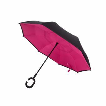 Magicbrella Double Layer Inverted Upside Down Umbrella (Fuchsia Pink) - 4