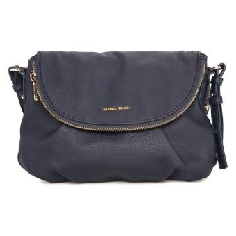 Mango Pebbled Crossbody Bag (Blue)