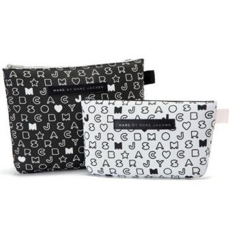 MARC JACOBS VIP Gift Japan Magazine Black/White Top Zip Purse BagSet of 2 - 2