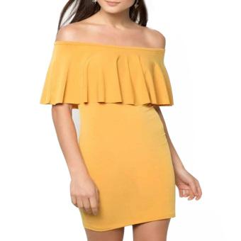 Marian Bodycon Dress (Mustard)
