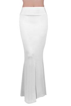 Maxi High Waist Skirt (White)