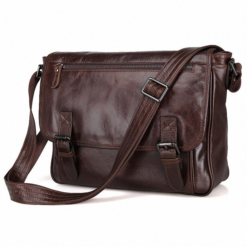 96ed3dea8 ... May Sky Men Genuine Leather Vintage Business Mens Travel Bags Tote  MenMessenger Bags Briefcase 13 Inch ...
