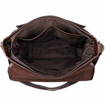 May Sky Men Genuine Leather Vintage Business Mens Travel Bags Tote MenMessenger Bags Briefcase 13 Inch Laptop Bag For Men LI-1764 MSARVM (Color:As First Picture) - intl - 5