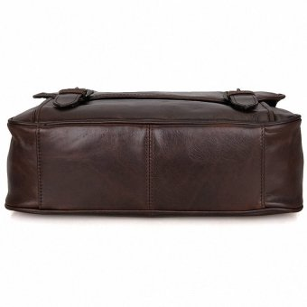 May Sky Men Genuine Leather Vintage Business Mens Travel Bags Tote MenMessenger Bags Briefcase 13 Inch Laptop Bag For Men LI-1764 MSARVM (Color:As First Picture) - intl - 4