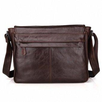 May Sky Men Genuine Leather Vintage Business Mens Travel Bags Tote MenMessenger Bags Briefcase 13 Inch Laptop Bag For Men LI-1764 MSARVM (Color:As First Picture) - intl - 3