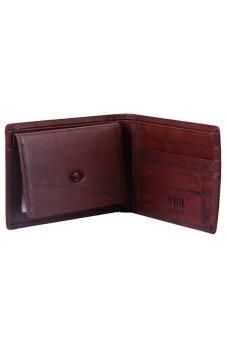 McJIM W-28-2053CH Crunch Leather Billfold Wallet (Brown)
