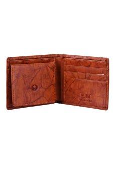 McJIM W-28-2053CH Crunch Leather Billfold Wallet (Tan)