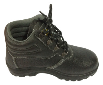 Meisons Ladies Hi Cut Safety Shoes With Steel Toe (Black)