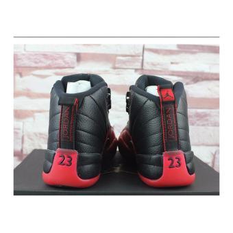 Men Basketball Shoes For Jordan12 Sneakers(Black/red) - intl - 4