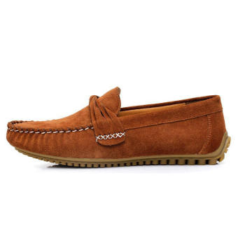 Men Casual Leather Fashion Loafers -Light Brown - picture 2