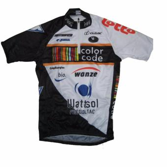 Men Cycling Jersey and Non Bib Shorts Set Quick Dry Gel PaddedClothing-FNM (Colorcode-white) - 2