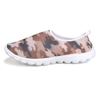 Men Fashion Camouflage Mesh Flat Shoes - Brown - picture 2