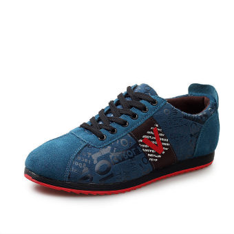 Men Fashion Flat Skater Shoes – Blue