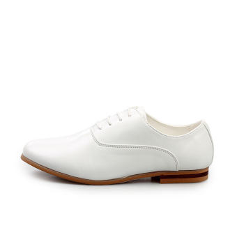 Men Fashion Leather Formal Business Shoes - White - picture 2