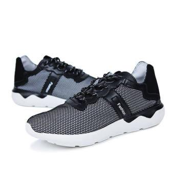 Men Fashion Leisure Simple Sneakers-Black - picture 2
