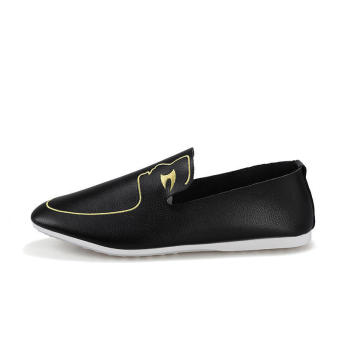 Men Fashion Pattern Loafers - Black - picture 2