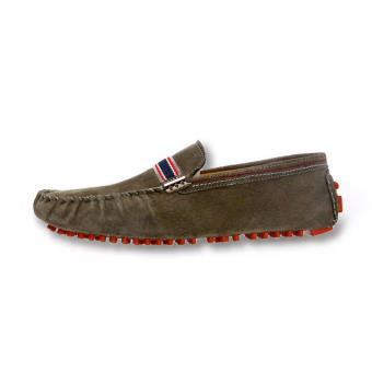 Men Fashion Seasons Leather Loafers - Khaki - picture 2