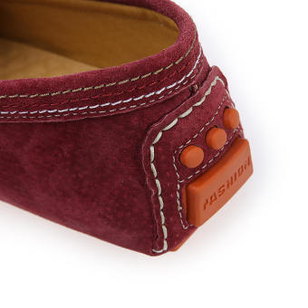 Men Fashion Seasons Leather Loafers (Wine Red) - picture 2