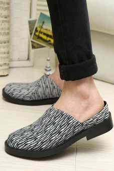 Men Fashion Slip-Ons Flat Shoes Grey - picture 2