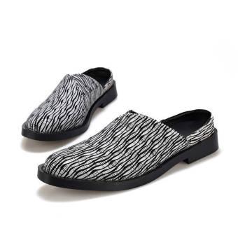 Men Fashion Slip-Ons Flat Shoes Grey