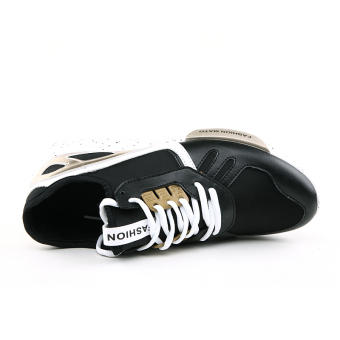 Men Fashion Trend Low Cut Sneakers-Black - picture 2