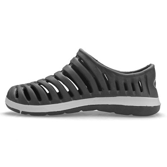 Men Hollow Sneakers Beach Sandals Slip On Loafer Slipper Breathable Stripe Shoes - 5