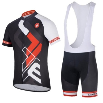Men Outdoor Cycling Jersey Bike Bib Shorts Bicycle Sports Clothing- intl