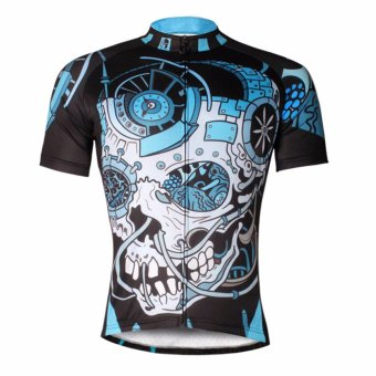 Men Outdoor Cycling Jersey Short Sleeve Bike Bicycle Clothing -intl