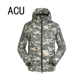 Men Outdoor Soft-shell TAD Shark Skin Waterproof Windproof WarmBreathable Jacket Coat Color:ACU Size:S - intl