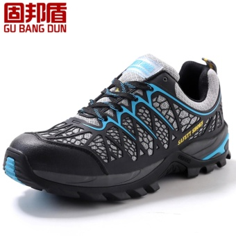 Men steel toe cap work safety shoes casual breathable outdoorhiking boots puncture proof protection footwear - intl