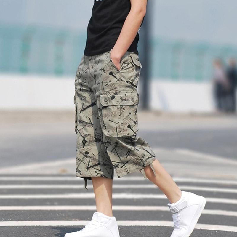 37aed99f7b ... Men Summer Wild Casual Cargo Shorts Cotton Camouflage OutdoorHiking Military  Army Work 3/4 Pants ...