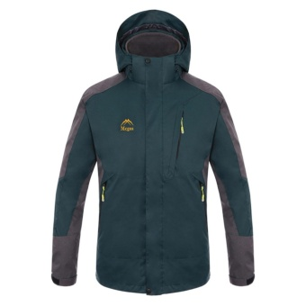 Men Two-pieces Outdoor Waterproof Thermal Hiking Camping Skiing Jackets(Green) - intl - 2