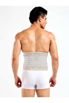 Men Waist Abdomen Shaper Tummy Trimmer Cincher Girdle Belt Burn Fat Gray - 3