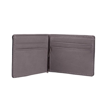 Men Wallet Short Wallets Leather Purses PU Leather Money ClipsSolid Thin Wallet Wallets For Men 3 Colors 02# - intl - 2