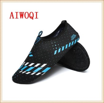 Men Women Swimming Yoga Beach Breath shoes Sandals for Summercasual shoes Barefoot Flexible Water Skin Shoes Aqua Socks forBeach Swim Surf Yoga Exercise Fitness shoes AIWOQI - intl - 3