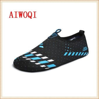 Men Women Swimming Yoga Beach Breath shoes Sandals for Summercasual shoes Barefoot Flexible Water Skin Shoes Aqua Socks forBeach Swim Surf Yoga Exercise Fitness shoes AIWOQI - intl - 2